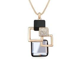 Колие Жанин диамант