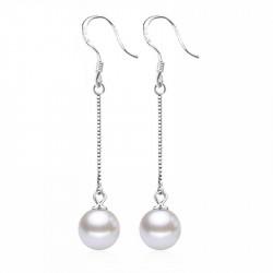 Обеци Класик перла