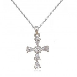 Колие Кръст кристал