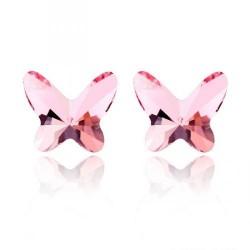 Обеци пеперуди розе