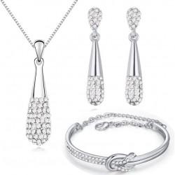 Комплект Стефани лукс кристал